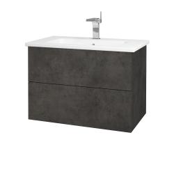 Dreja - Kúpeľňová skriňa VARIANTE SZZ2 80 (umývadlo Euphoria) - D16  Beton tmavý / D16 Beton tmavý (188870)