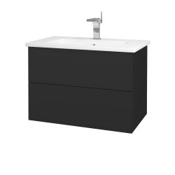 Dreja - Kúpeľňová skriňa VARIANTE SZZ2 80 (umývadlo Euphoria) - N03 Graphite / N03 Graphite (189013)