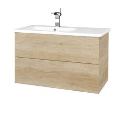 Dreja - Kúpeľňová skriňa VARIANTE SZZ2 90 (umývadlo Euphoria) - D15 Nebraska / D15 Nebraska (189150)