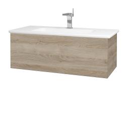 Dreja - Kúpeľňová skriňa VARIANTE SZZ 100 (umývadlo Euphoria) - D17 Colorado / D17 Colorado (189983)