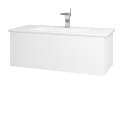 Dreja - Kúpeľňová skriňa VARIANTE SZZ 100 (umývadlo Euphoria) - M01 Bílá mat / M01 Bílá mat (189990)
