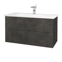 Dreja - Kúpeľňová skriňa VARIANTE SZZ2 100 (umývadlo Euphoria) - D16  Beton tmavý / D16 Beton tmavý (190170)