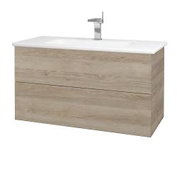 Dreja - Kúpeľňová skriňa VARIANTE SZZ2 100 (umývadlo Euphoria) - D17 Colorado / D17 Colorado (190187)