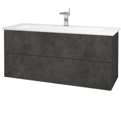 Dreja - Kúpeľňová skriňa VARIANTE SZZ2 120 (umývadlo Euphoria) - D16  Beton tmavý / D16 Beton tmavý (190576)