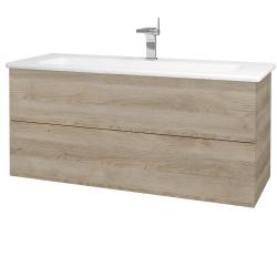 Dreja - Kúpeľňová skriňa VARIANTE SZZ2 120 (umývadlo Euphoria) - D17 Colorado / D17 Colorado (190583)