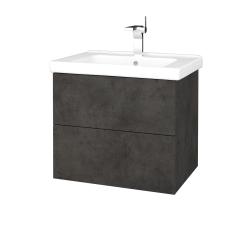 Dreja - Kúpeľňová skriňa VARIANTE SZZ2 65 (umývadlo Harmonia) - D16  Beton tmavý / D16 Beton tmavý (191313)