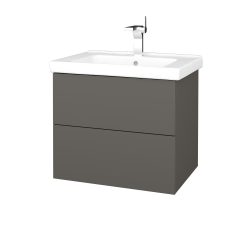 Dreja - Kúpeľňová skriňa VARIANTE SZZ2 65 (umývadlo Harmonia) - N06 Lava / N06 Lava (191627)
