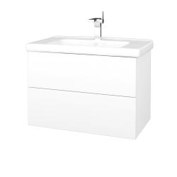 Dreja - Kúpeľňová skriňa VARIANTE SZZ2 80 (umývadlo Harmonia) - M01 Bílá mat / M01 Bílá mat (192266)