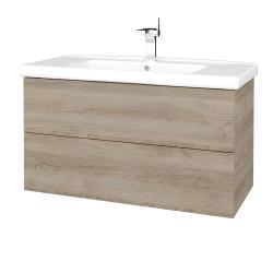 Dreja - Kúpeľňová skriňa VARIANTE SZZ2 100 (umývadlo Harmonia) - D17 Colorado / D17 Colorado (193126)