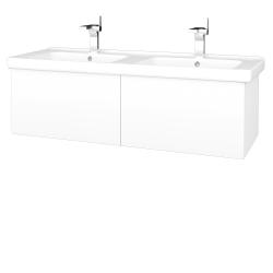 Dreja - Kúpeľňová skriňa VARIANTE SZZ2 125 (umývadlo Harmonia) - M01 Bílá mat / M01 Bílá mat (193614)