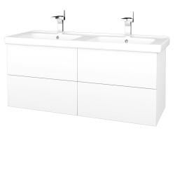 Dreja - Kúpeľňová skriňa VARIANTE SZZ4 125 (umývadlo Harmonia) - M01 Bílá mat / M01 Bílá mat (194062)
