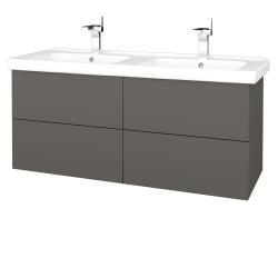 Dreja - Kúpeľňová skriňa VARIANTE SZZ4 125 (umývadlo Harmonia) - N06 Lava / N06 Lava (194321)