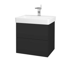 Dreja - Kúpeľňová skriňa VARIANTE SZZ2 60 - N03 Graphite / N03 Graphite (194710)