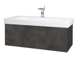 Dreja - Kúpeľňová skriňa VARIANTE SZZ 105 - D16  Beton tmavý / D16 Beton tmavý (195588)