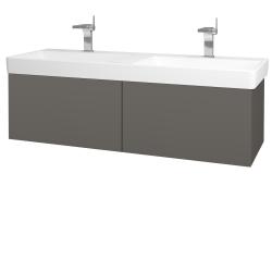 Dreja - Kúpeľňová skriňa VARIANTE SZZ2 130 - N06 Lava / N06 Lava (196134)