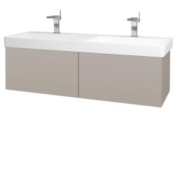 Dreja - Kúpeľňová skriňa VARIANTE SZZ2 130 - N07 Stone / N07 Stone (196141)