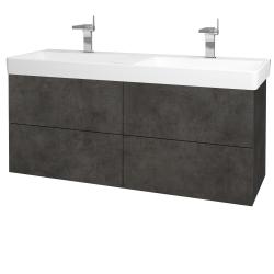 Dreja - Kúpeľňová skriňa VARIANTE SZZ4 130 - D16  Beton tmavý / D16 Beton tmavý (196165)