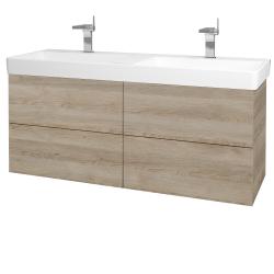 Dreja - Kúpeľňová skriňa VARIANTE SZZ4 130 - D17 Colorado / D17 Colorado (196172)