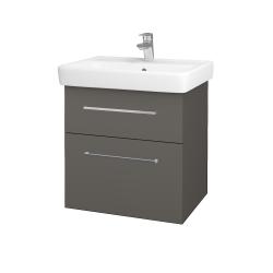 Dreja - Kúpeľňová skriňa Q MAX SZZ2 60 - N06 Lava / Úchytka T04 / N06 Lava (198275E)