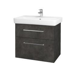 Dreja - Kúpeľňová skriňa Q MAX SZZ2 70 - D16  Beton tmavý / Úchytka T04 / D16 Beton tmavý (198350E)