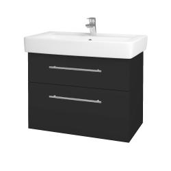 Dreja - Kúpeľňová skriňa Q MAX SZZ2 80 - N03 Graphite / Úchytka T02 / N03 Graphite (198695B)