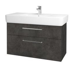 Dreja - Kúpeľňová skriňa Q MAX SZZ2 100 - D16  Beton tmavý / Úchytka T04 / D16 Beton tmavý (198756E)