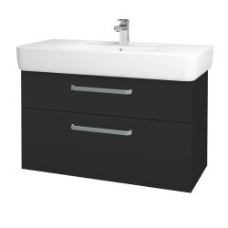 Dreja - Kúpeľňová skriňa Q MAX SZZ2 100 - N03 Graphite / Úchytka T01 / N03 Graphite (198886A)