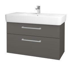 Dreja - Kúpeľňová skriňa Q MAX SZZ2 100 - N06 Lava / Úchytka T03 / N06 Lava (198893C)