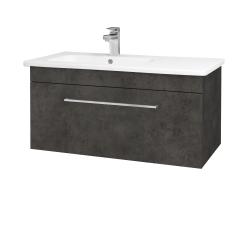 Dreja - Kúpeľňová skriňa ASTON SZZ 90 - D16  Beton tmavý / Úchytka T04 / D16 Beton tmavý (199562E)