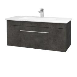 Dreja - Kúpeľňová skriňa ASTON SZZ 100 - D16  Beton tmavý / Úchytka T04 / D16 Beton tmavý (199906E)