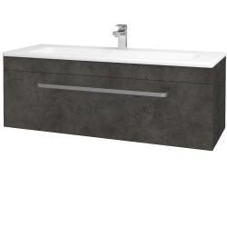 Dreja - Kúpeľňová skriňa ASTON SZZ 120 - D16  Beton tmavý / Úchytka T01 / D16 Beton tmavý (200060A)