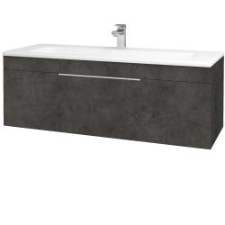 Dreja - Kúpeľňová skriňa ASTON SZZ 120 - D16  Beton tmavý / Úchytka T05 / D16 Beton tmavý (200060F)