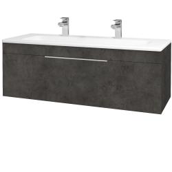 Dreja - Kúpeľňová skriňa ASTON SZZ 120 - D16  Beton tmavý / Úchytka T05 / D16 Beton tmavý (200060FU)