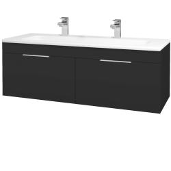 Dreja - Kúpeľňová skriňa ASTON SZZ2 120 - N03 Graphite / Úchytka T05 / N03 Graphite (200343FU)