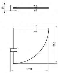 NOVASERVIS - Rohová polička Metalia 10 chróm (0035,0), fotografie 4/2