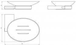 NOVASERVIS - Mydlenička sklo Metalia 9 chróm (0936,0), fotografie 4/2