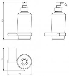 NOVASERVIS - Dávkovač mydla Metalia 9 chróm (0955,0), fotografie 4/2