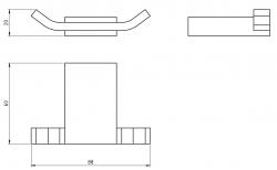 NOVASERVIS - Dvojháčik Metalia 9 chróm (0956,0), fotografie 4/2