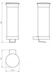 NOVASERVIS - Zásobník na kozmetické tampóny sklo Metalia 9 chróm (0972,0), fotografie 4/2