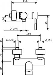 NOVASERVIS - Sprchová batéria 150 mm Tower Tech chróm (12060,0), fotografie 6/3
