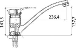 NOVASERVIS - Drezová batéria PADWA chróm (73091,0), fotografie 4/2