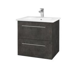 Dreja - Kúpeľňová skriňa GIO SZZ2 60 - D16  Beton tmavý / Úchytka T02 / D16 Beton tmavý (201982B)