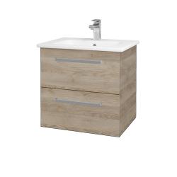 Dreja - Kúpeľňová skriňa GIO SZZ2 60 - D17 Colorado / Úchytka T01 / D17 Colorado (201999A)