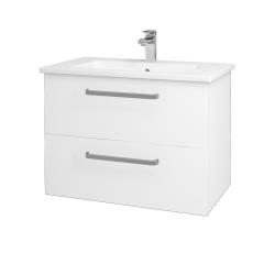 Dreja - Kúpeľňová skriňa GIO SZZ2 80 - M01 Bílá mat / Úchytka T01 / M01 Bílá mat (202163A)