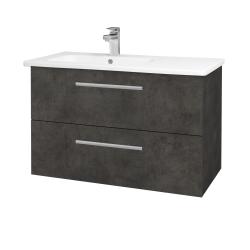 Dreja - Kúpeľňová skriňa GIO SZZ2 90 - D16  Beton tmavý / Úchytka T03 / D16 Beton tmavý (202415C)