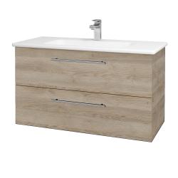 Dreja - Kúpeľňová skriňa GIO SZZ2 100 - D17 Colorado / Úchytka T02 / D17 Colorado (202767B)