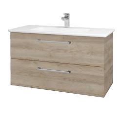 Dreja - Kúpeľňová skriňa GIO SZZ2 100 - D17 Colorado / Úchytka T03 / D17 Colorado (202767C)