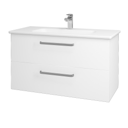 Dreja - Kúpeľňová skriňa GIO SZZ2 100 - M01 Bílá mat / Úchytka T01 / M01 Bílá mat (202774A)