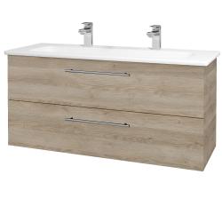 Dreja - Kúpeľňová skriňa GIO SZZ2 120 - D17 Colorado / Úchytka T02 / D17 Colorado (202927BU)