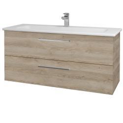 Dreja - Kúpeľňová skriňa GIO SZZ2 120 - D17 Colorado / Úchytka T04 / D17 Colorado (202927E)